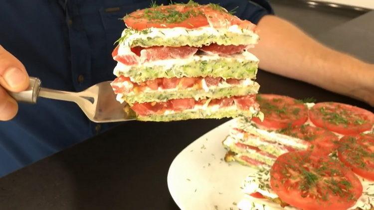кабачковый торт приготовленный по простому рецепту готов