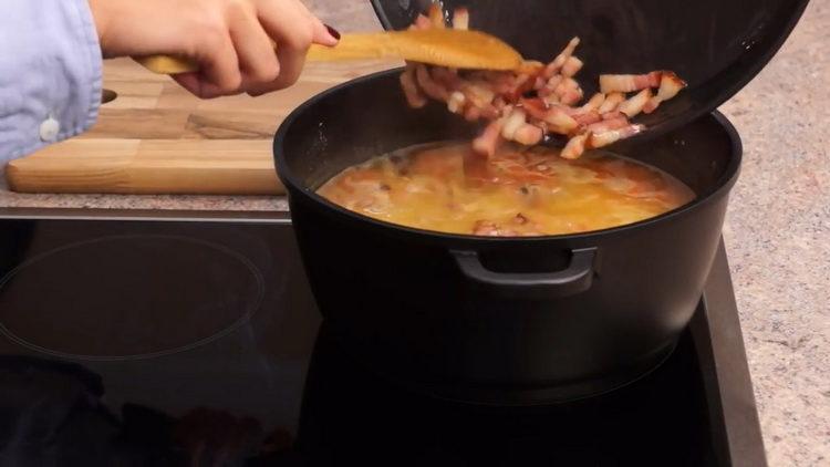 Для приготовления блюда соедините ингредиенты