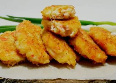 Как научиться готовить вкусные котлеты из крабовых палочек с сыром 🧀