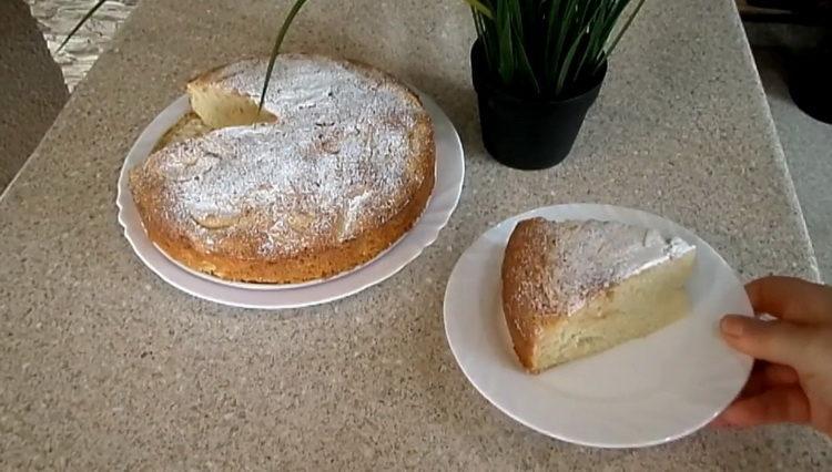 Манник с яблоками по пошаговому рецепту с фото