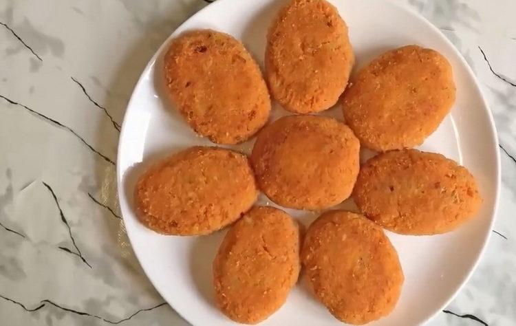 Рецепт бесподобных морковных котлет