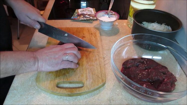 Готовим печень говяжья в мультиварке