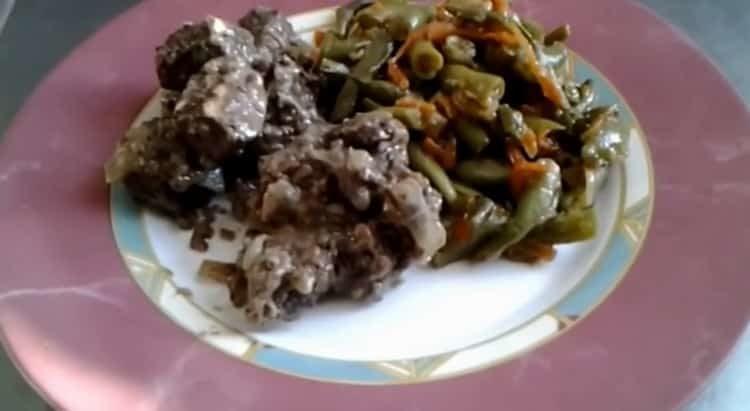 Печень говяжья: пошаговый рецепт с фото