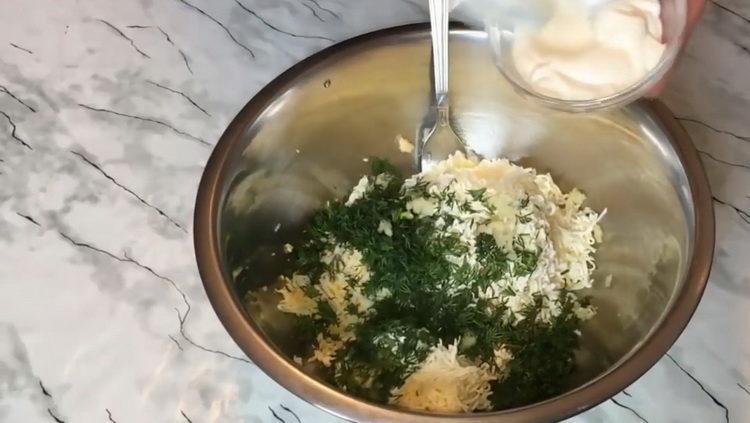 Для приготовления блюда подготовьте майонез