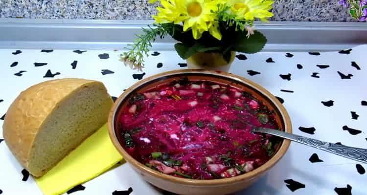 Свекольник холодный: пошаговый классический рецепт с фото