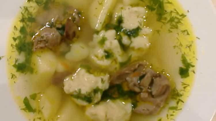 суп из куриной печени готов