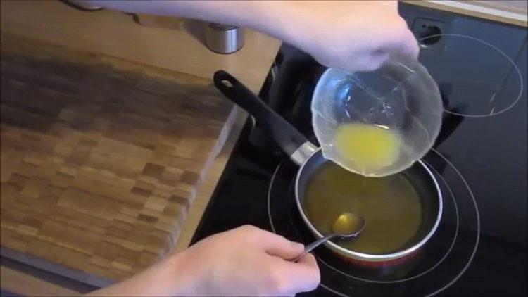 Для приготовления блюда приготовьте заливку
