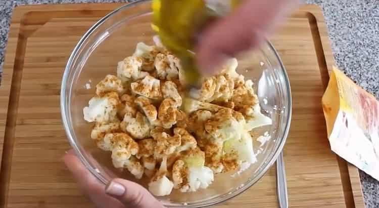 цветная капуста в духовке добавьте масло