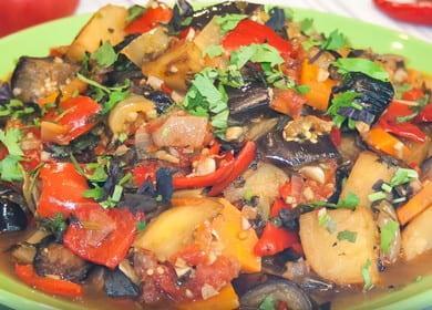 Аджапсандал — рецепт постного 諾 овощного рагу