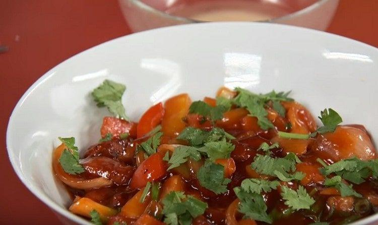 Вот такое блюдо китайской кухни, свинина в кисло-сладком соусе.