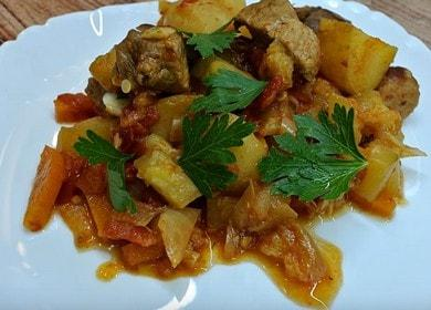 Вкусное рагу из кабачков 諾 с мясом