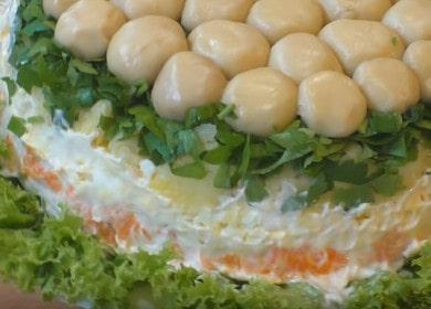 Вкусный и красивый салат 諾 «Грибная поляна»