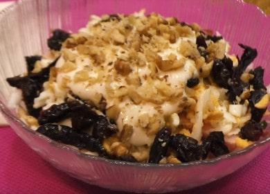 Салат с черносливом 🥝 и грецкими орехами «Дамский каприз»