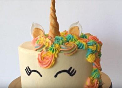 Яркий красивый торт 🥝 Единорог на День рождения