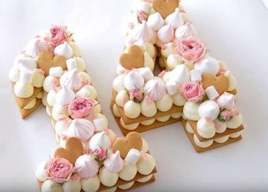 Оригинальный и вкусный торт 諾 Цифра
