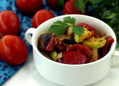 Тушеные овощи с баклажанами 🥝 и кабачками