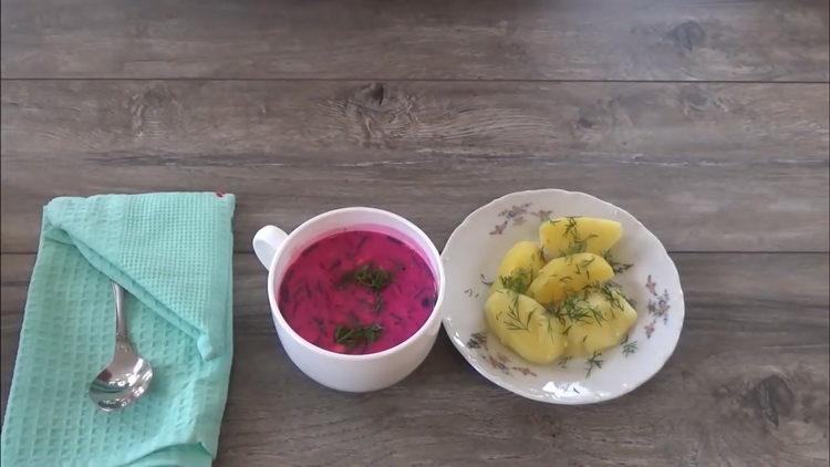 Пошаговый рецепт холодного борща из свеклы