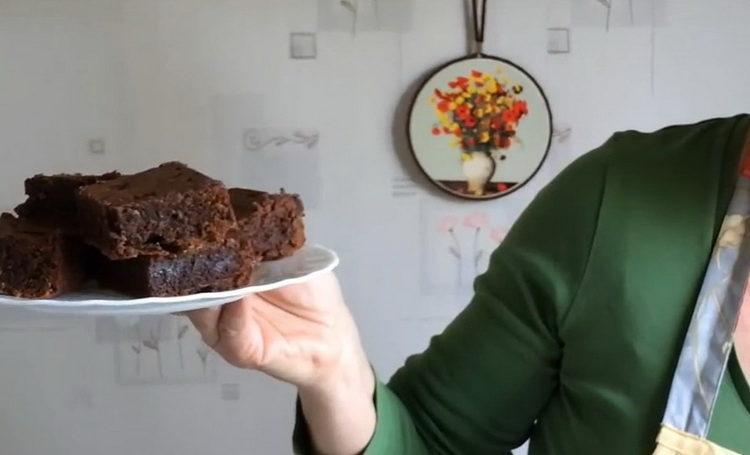 Шоколадный брауни - очень вкусный рецепт