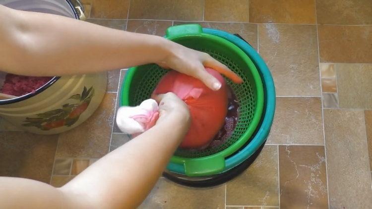 процедите ягоды