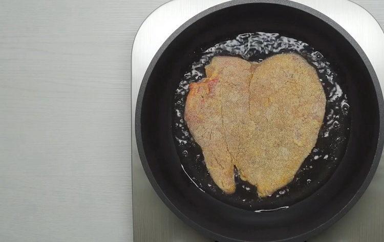 обжарьте мясо