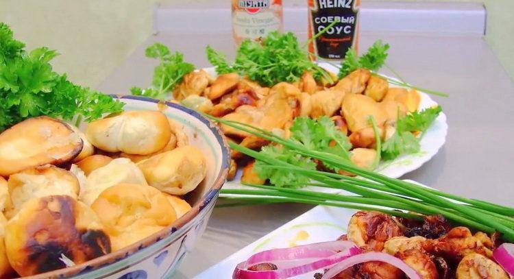 Как правильно готовить жареный гриб дождевик с чесноком