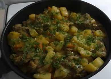 Тушеная картошка с курицей 諾 — быстрый ужин