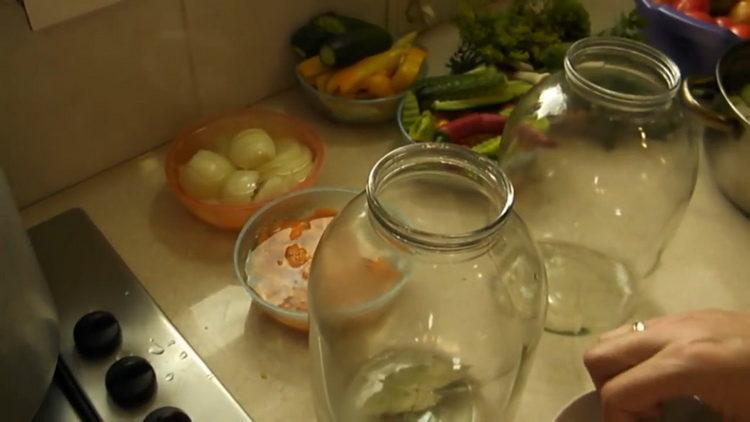 подготовьте посуду