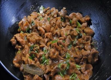 Рецепт приготовления мягких 諾 и нежных куриных желудков