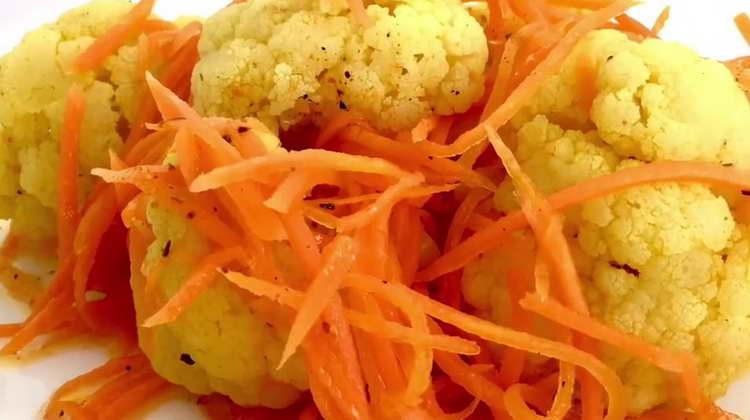 Маринованная цветная капуста 🥗 по пошаговому рецепту с фото
