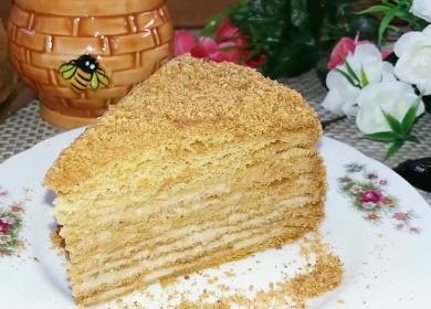 Невероятно вкусный медовый 諾 торт