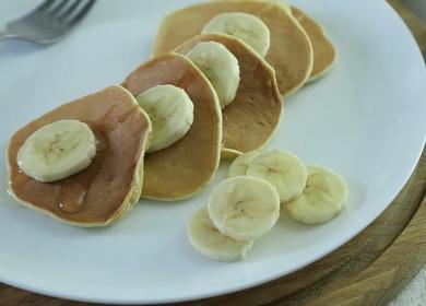 Банановые оладьи без 🥝 муки и сахара