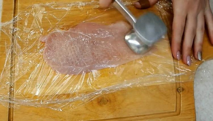 отбейте мясо