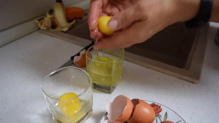 подготовьте яйца