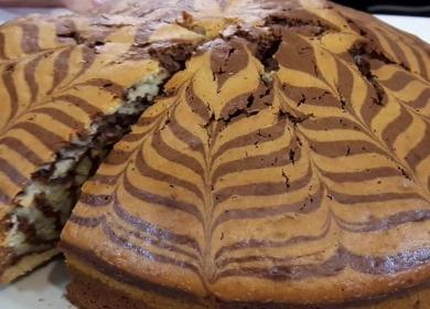 Вкусный пирог Зебра 🥝 — проще простого