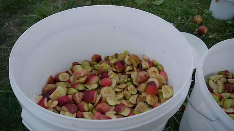 нарезаем дольками яблоки