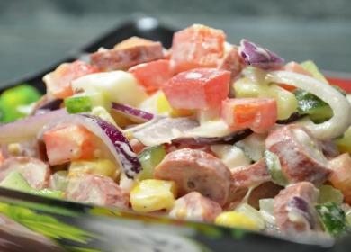 Яркий и очень вкусный 🥝 салат на День Рождения