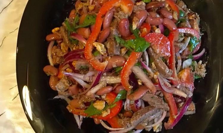 Салат с говядиной по пошаговому рецепту с фото