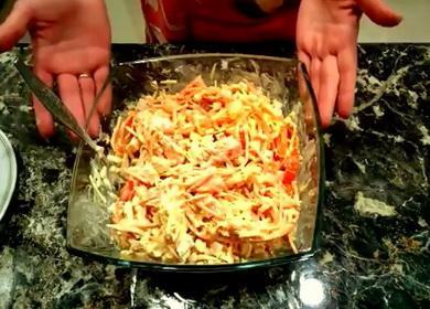 Простой салат с копченой курицей 🥝 и корейской морковью