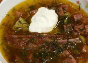 самый вкусный рецепт приготволения солянки с колбасой