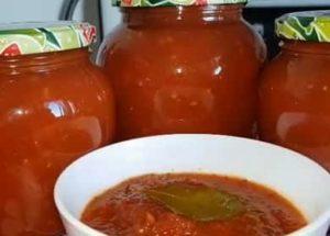 Соус из помидор на зиму по пошаговому рецепту с фото