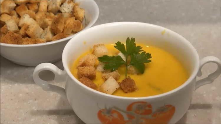 суп крем из тыквы со сливками