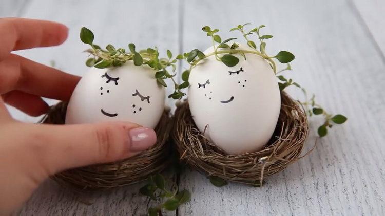пасхальное яйцо готово
