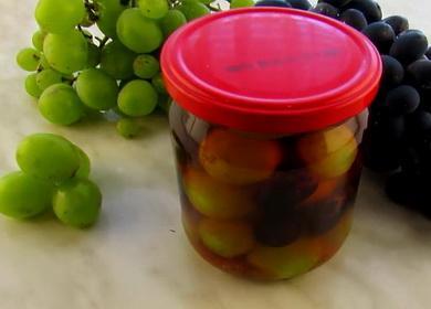 Просто рецепт маринованного винограда на зиму 🍇