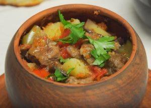 Ароматная кавказская кухня: рецепт чанахов с пошаговыми фото.