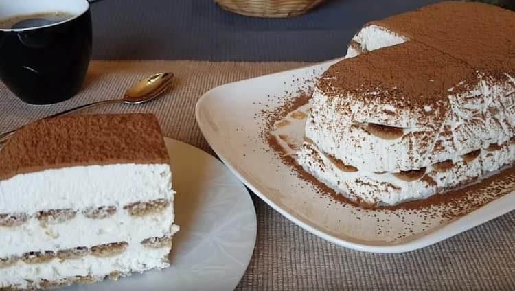 Торт из творога готов