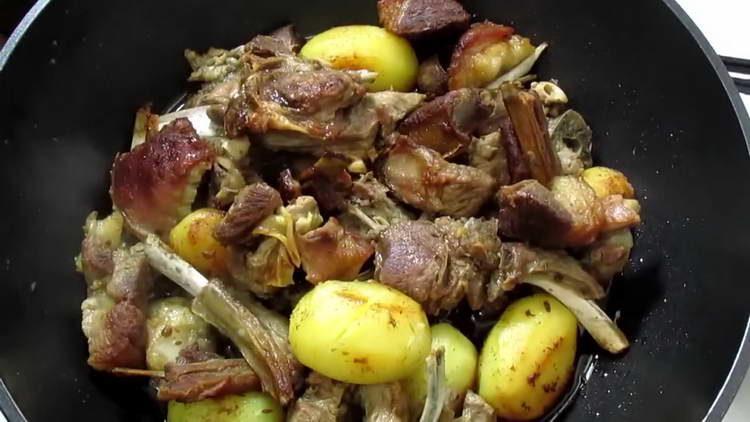баранина с картошкой