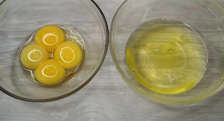 белки отделяем от желтков