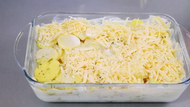 выложите сыр