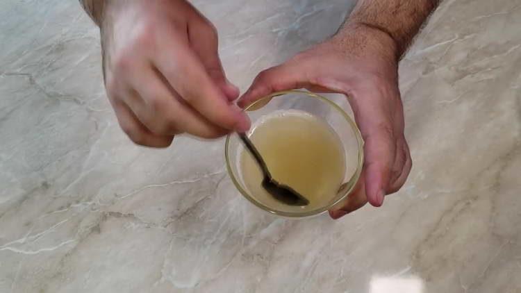 растапливаем желатин в микроволновке