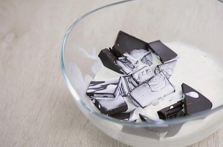 подготовьте шоколад